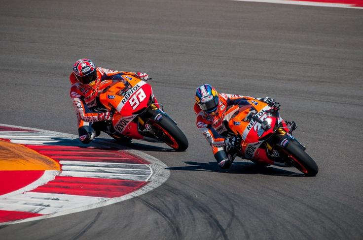 Repsol Honda Team @marcmarquez93 & Dani Pedrosa #26 testing #COTA #MotoGP 2013.03.14 (pic from COTA website)