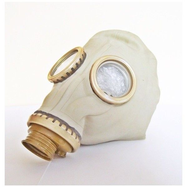 Civilian Gas Mask GP5 NEVER USED from Russia Soviet Union 1974... ❤ liked on Polyvore featuring mask and gas mask