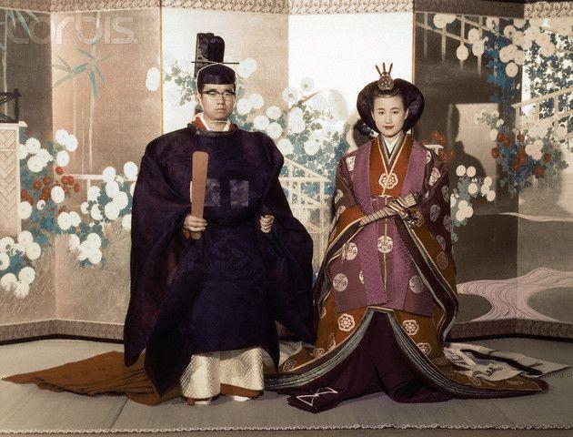 常陸宮正仁親王(ひたちのみやまさひとしんのう)殿下(L), 同妃華子(はなこ)殿下(R)  Japão - 1964 Prince Yoshi Hitachi & Princess Hanako