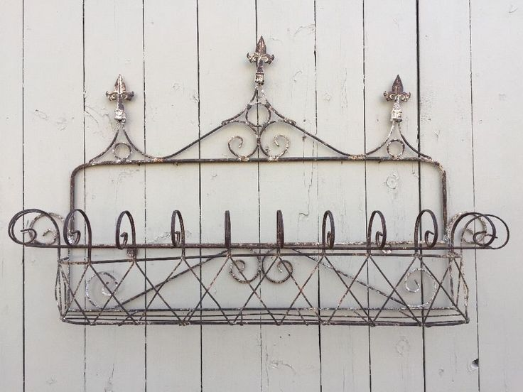 Antique Victorian Iron Wire Window Box Planter Cage | eBay