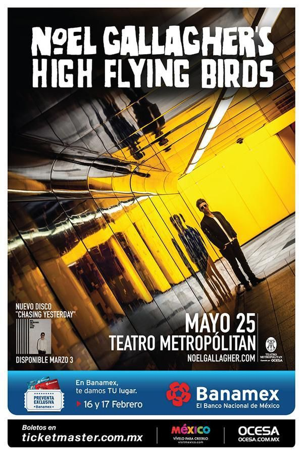 Noel Gallagher​ High Flying Birds 25 de Mayo Teatro Metropólitan​