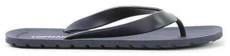 Topman Navy Flip Flops