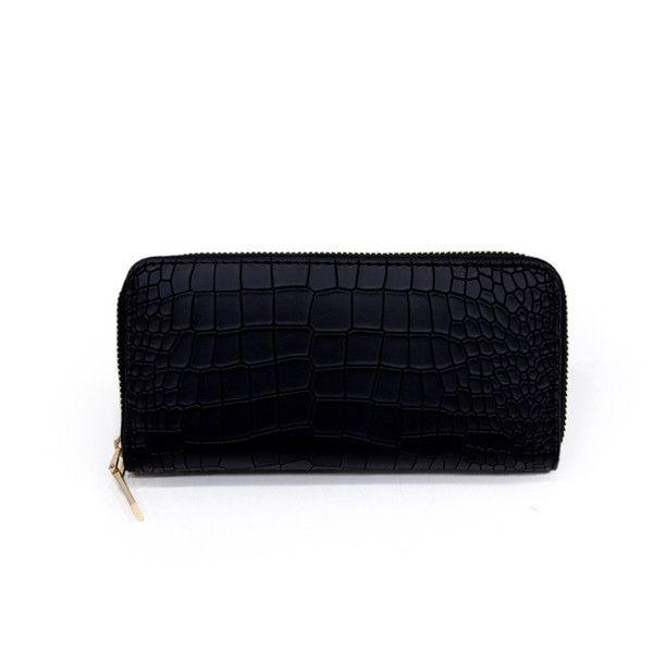 Vintage Alligator Wallet Zipper Clutch Bag