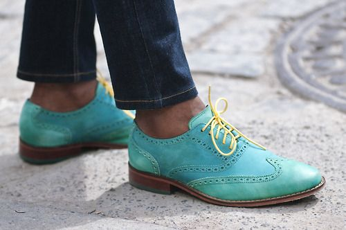 Turquoise Cole Haan.