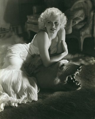 Jean Harlow.: Vintage, Jeans, Hollywood, Jean Harlow, George Hurrell, Photo, Classic