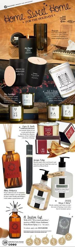 Festa Fragrance featured in BeautyHabit gift guide!