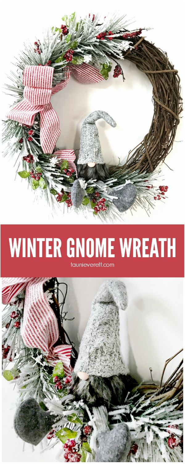 Winter Gnome Wreath