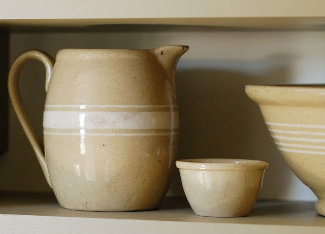 Earliest Yellow Ware began in England in the 1500's using crude local yellow clay. By the 1700's English potters were refining their wares. Yellow Ware is made with buff-colored clay containing less iron than red clay. By the 1850's, demand was so high that thousands of pieces were made each year until the 1930's.