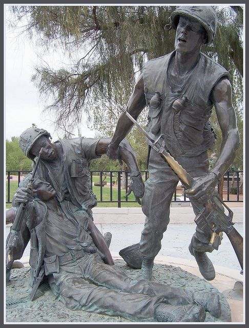 Vietnam War Memorial Statue Clip Art