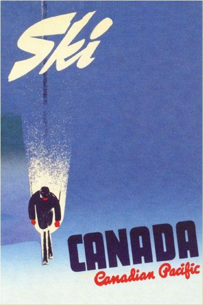 Ski Canada - Canadian Pacific Rail Poster