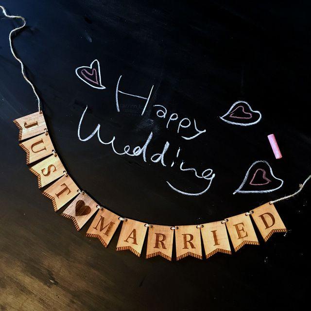 前撮りにも♡木製ガーランド【小】結婚式 Just Married