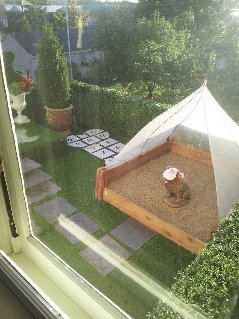 Backyard Sandbox Ideas sandbox diy The Polohouse Bachmans Idea House Fall 2012 Canopy Covered Shaded Dog Sandbox