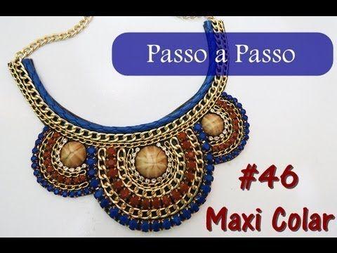 Passo a Passo #46: Maxi Colar - YouTube