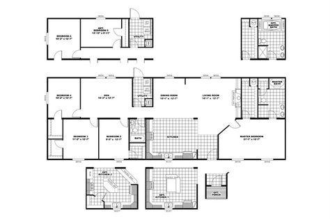 "Floorplan OLY28764A ""HERCULES"" | 29OLY28764AH | Oakwood Homes of Greenville - Greenville, SC"