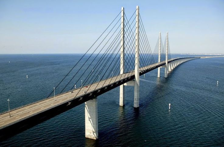 Malmo, Sweden Oresund Bridge
