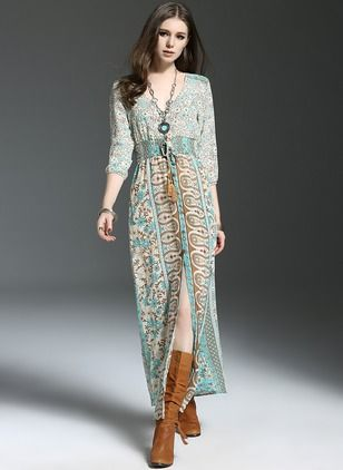 Polyester 1025675/1025675 Sleeves Maxi Casual Dresses (1025675) @ floryday.com