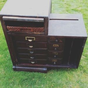 Antique Moon Desk By Muskegon Valley Furniture Company In Renton, WA (sells  For $200