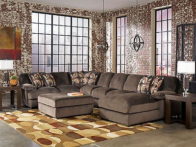 Cosmo 4pcs Modern Oversized Cafe Microfiber Sofa Couch Sectional Set Living Room Microfiber
