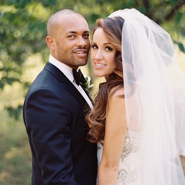 Britt Nicole's wedding. She's so gorgeous! And she and her husband look perfect :)