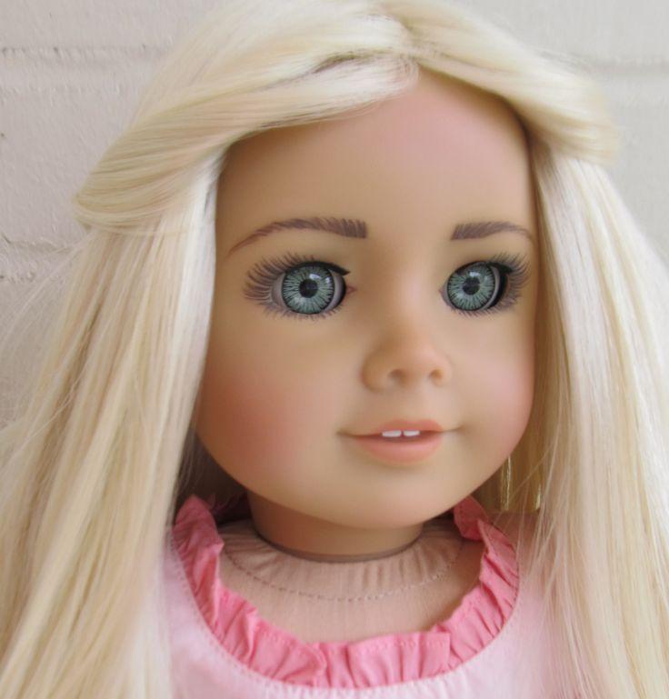 custom painted american girl doll | Custom American Girl dolls by Selena Esparza | Pinterest ...