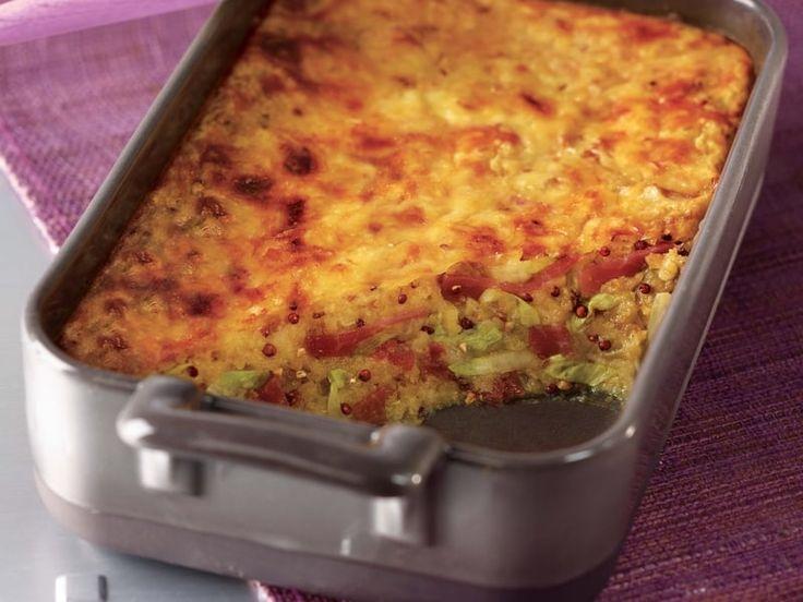 Recette de Gratin d'hiver quinoa gourmand Tipiak®, endives et jambon cru : la recette facile