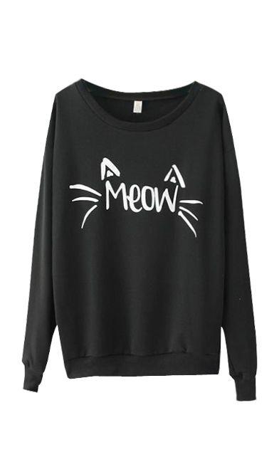 Skymoto®Women's O-neck Full Sleeve Printing Sweatshirt