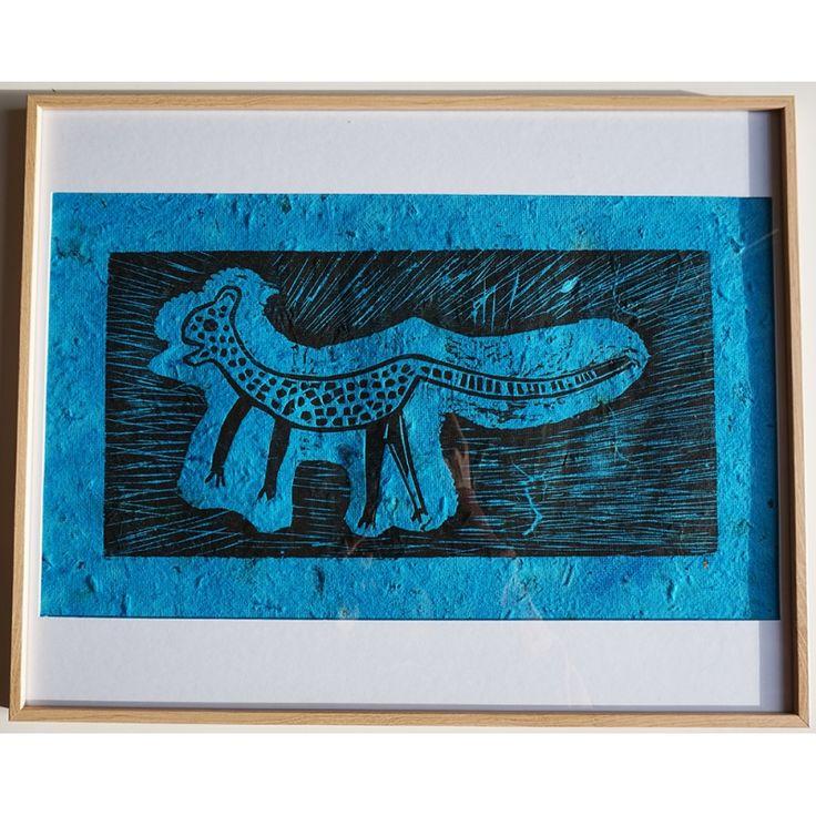 Petit Jaguar, gravure sur bois atelier Maya, Taller de Leñateros Chiapas