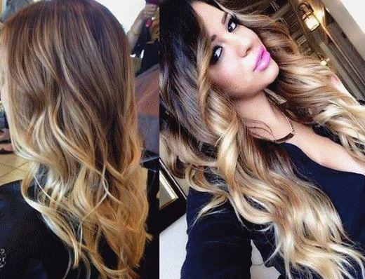 California highlights on dark and blond hair - 52 photos