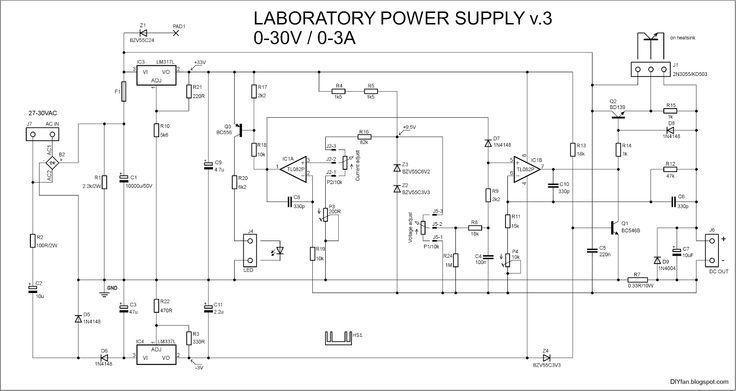 Adjustable Lab Power Supply 0 30v 0 3a Fontes
