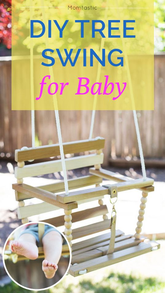 DIY tree swing for baby - make your own!