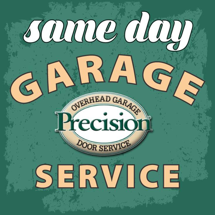 Skip the wait get your garage door repaired today with Precision Garage Door Bay Area. #sameday #garagedoor #service