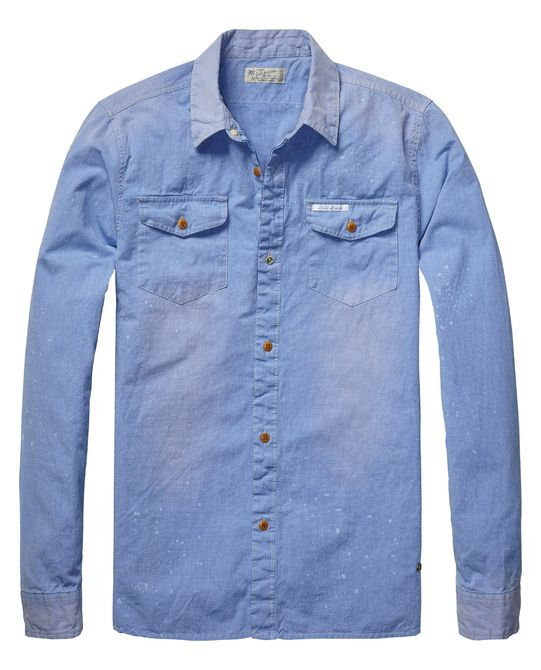 Worker shirt with details | Shirt l/s | Men Clothing at Scotch & Soda