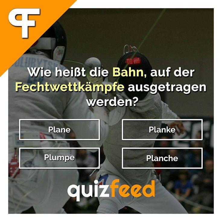 Wie heißt die Bahn, auf der Fechtwettkämpfe ausgetragen werden? Plane, Planke, Plumpe, Planche Wische, um die Antwort zu erfahren. . #sportlich #fechten #frage #quiz #Spiel #wettkampf #duell