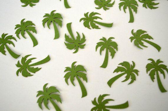 Palm Tree блеск confettis стол разброс свадьбы Детские Свадебные душ девичник украшения карт
