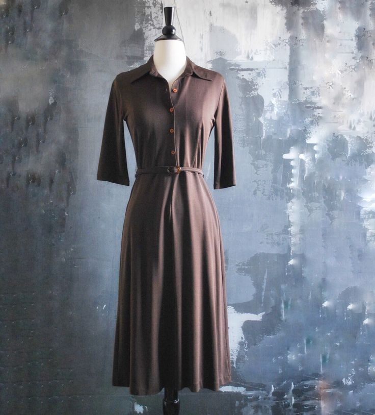 A personal favorite from my Etsy shop https://www.etsy.com/listing/267379674/1970s-vintage-brown-shirtdress-with