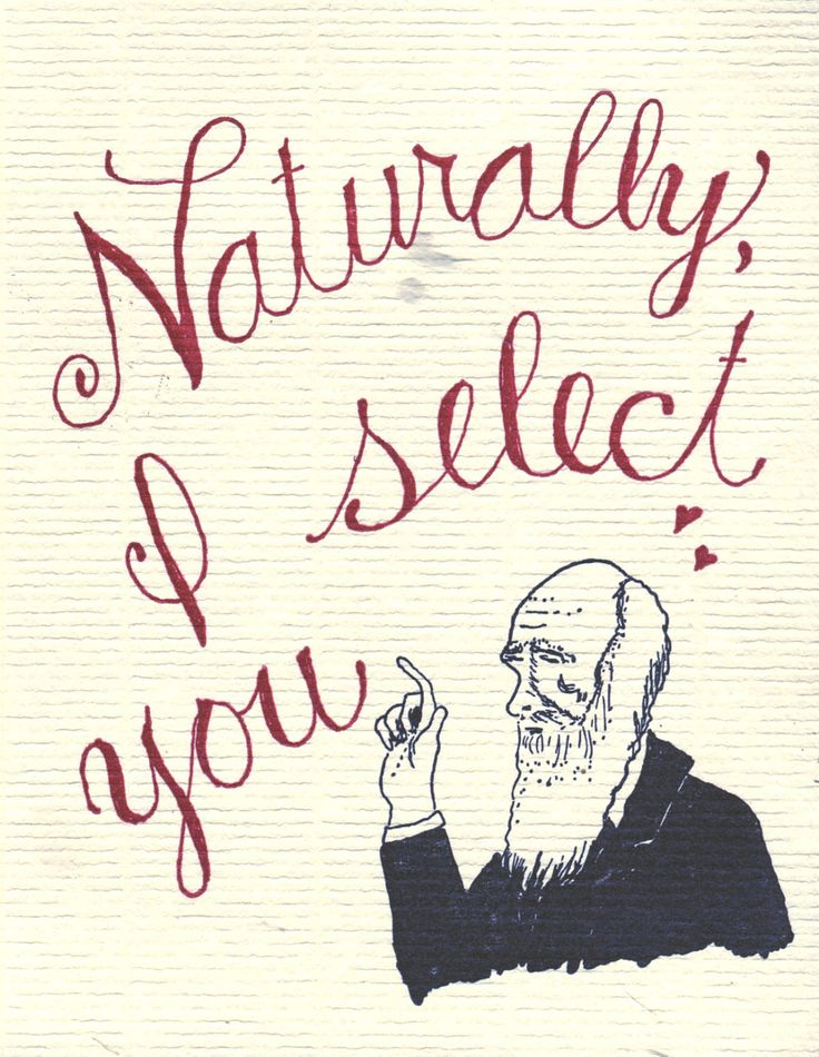 Charles Darwin Greeting Science Valentine.