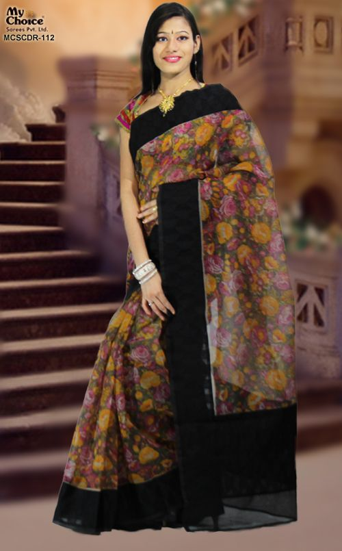 MULTI COLOR DORIA COTTON SILK SAREE