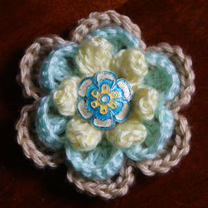 Easy Layered Crochet Rose pattern