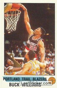 BUCK WILLIAMS 1990-91 PORTLAND TRAIL BLAZERS 3a scelta assoluta del 1981 dei New Jersey Nets dall'Università di Maryland Williams è stato presidente della NBA Players Association dal 1994 al 1997.