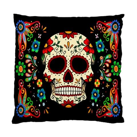 Fiesta Skull pillow cushion case by Lttle Shop Of Horrors.  GOTHIC, DAY OF THE DEAD, MUERTOS, SUGAR SKULL