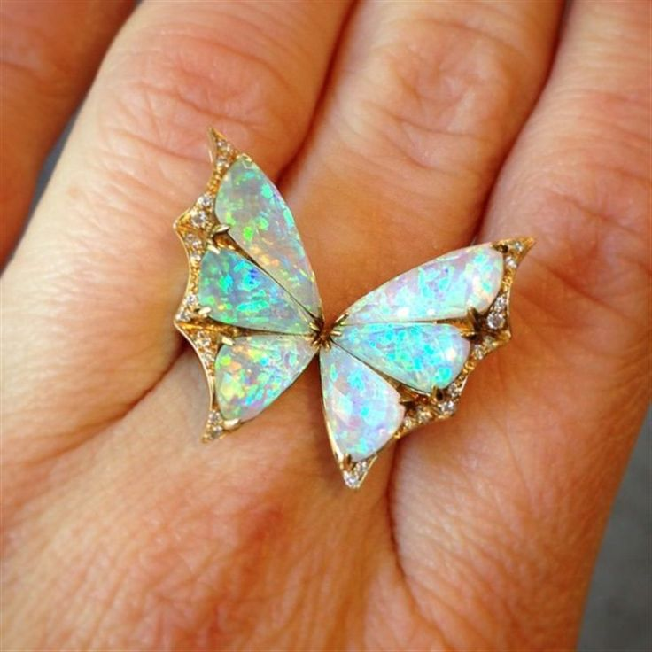 Gold and opal butterfly ring from Stephen Webster