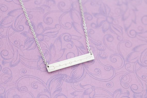 Long Distance Relationship or Friendship Necklace  Any States