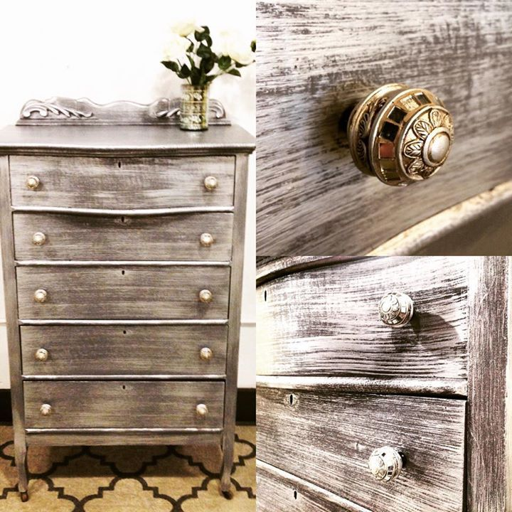 Antique Chest Of Drawers Painted By The Distressed