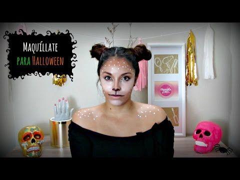 Maquillaje fácil de venado para Halloween - Marcela Lince - YouTube