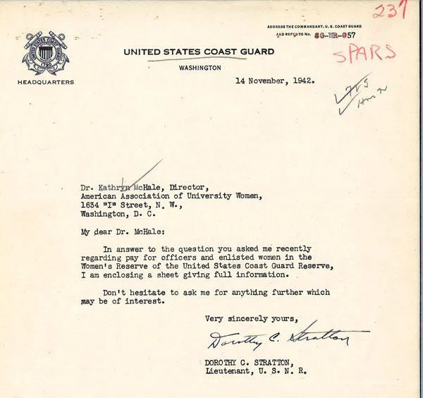 Photo of a typed letter