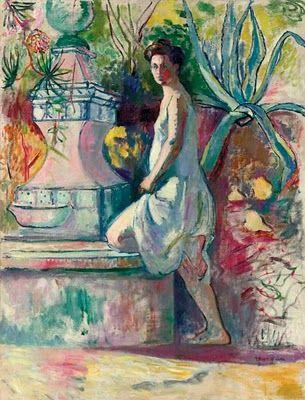 Henri Manguin (1874-1949) - at the Fountain, Villa Demiere