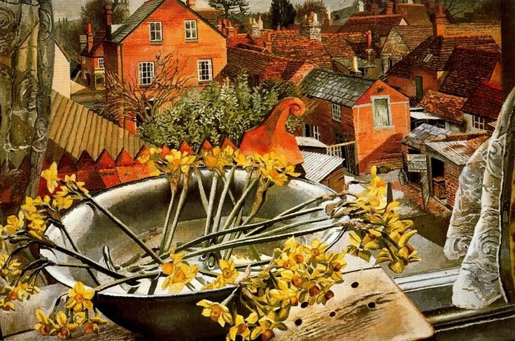 STANLEY SPENCER  From the Artist's Window, Cookham (1938)