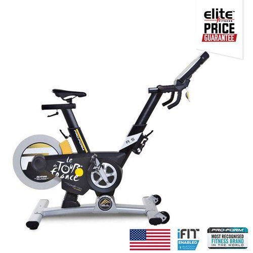 PROFORM TOUR DE FRANCE PRO 5.0    iFit® Bluetooth® Smart Enabled    20% Incline and Decline Capabilities    10'' Touchscreen Console    SMR™ Silent Magnetic Resistance    Intelligent Wind Resistance    24 Preset Tour de France Workout Apps Plus