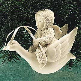 "Department 56: COLLECTING - ""Fly Me To The Moon"" Ornament - Snowbabies™ Retirements"