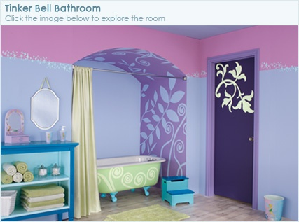 disney tinker bell paint colors in my craft room at my old house turquoise